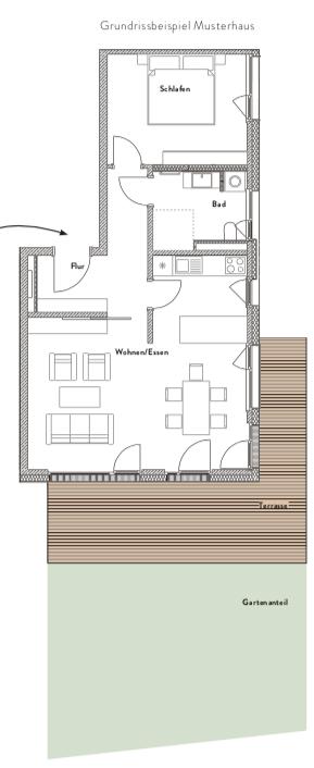"""Mustergrundriss Design """"Landhaus"""""""