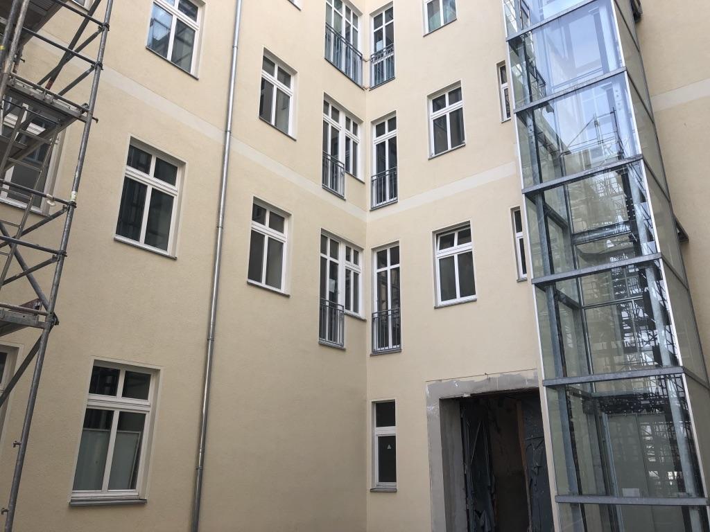 Fassade Innenhof fertig
